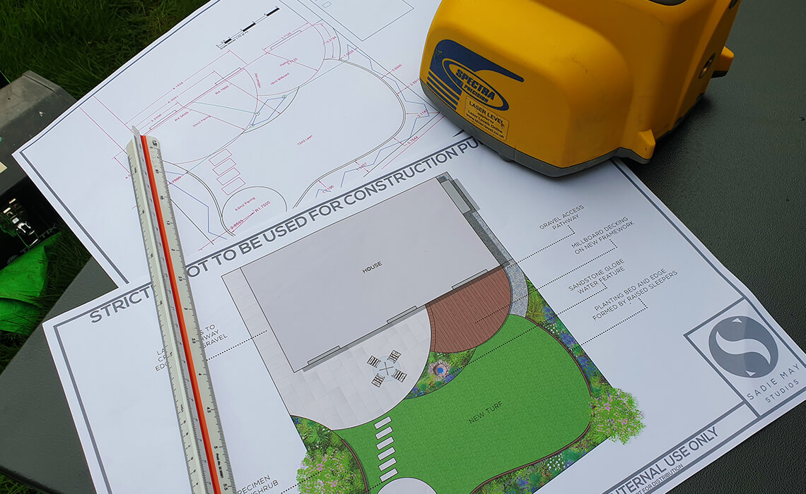 Plans for a newly constructed garden
